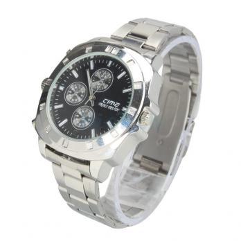 Часы наручные с видеокамерой (серебристые)